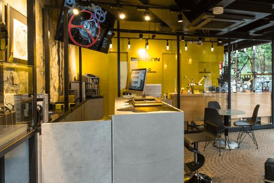 「BERGEON/ベルジョン」のコンセプトを反映した店舗設計。