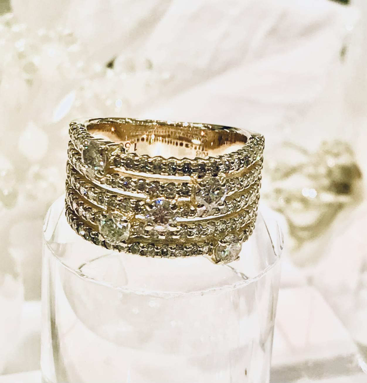 ■「K18 ダイヤモンド・リング サイズ直し」