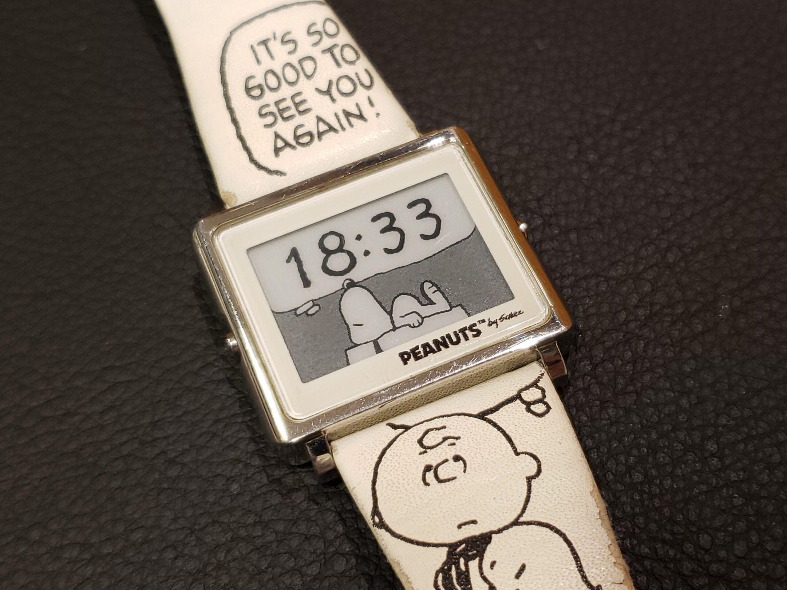 ■「ピーナッツ デジタル時計」